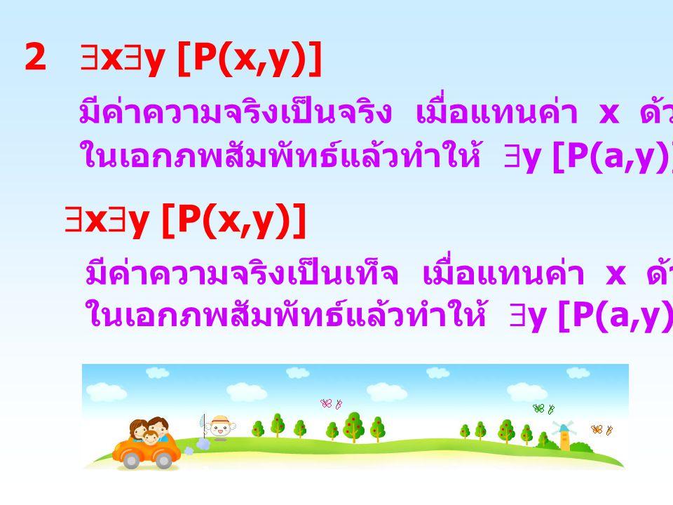 2 xy [P(x,y)] xy [P(x,y)]
